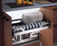 Ngăn kéo để bát đĩa, giảm chấn gắn liền, chất liệu inox hộp 304