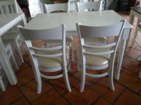 Bàn ăn 4 ghế sơn trắng