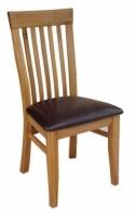 Ghế gỗ 5 nan mặt nệm
