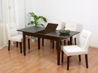 Bộ bàn ăn 6 ghế có thể gập thành bàn 4 ghế