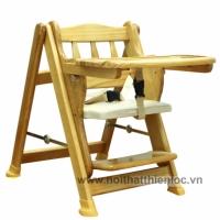 Ghế ăn dặm gỗ thông